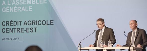 Raphaël Appert (Directeur général) et Jacques Ducerf (Président)